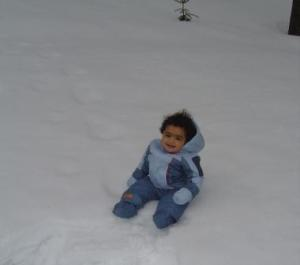 Sitting in the snow - Killington, March 2008