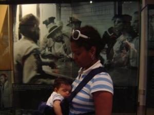 Alexander napping at the MLK Museum in Atlanta