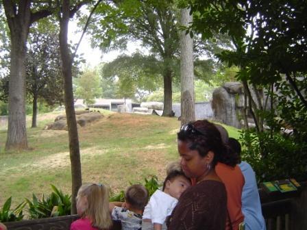Alexander and Mommy at the Atlanta Zoo